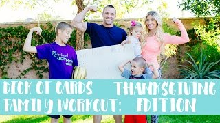 Deck of Cards Family Workout: Thanksgiving Edition