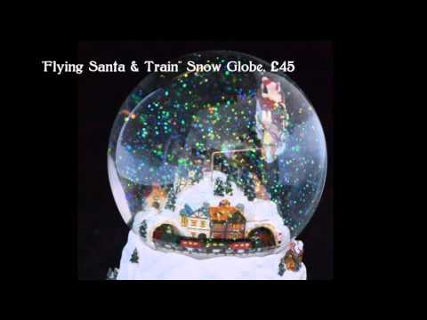 German Musical Snow Globes from Barretts - Flying Santa & Train