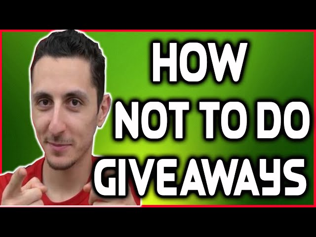 How Not To Do Giveaways ? (Feat. Ed TechSource)
