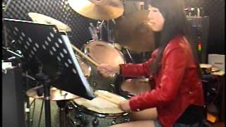 2014.02.15 李婕13歲 爵士鼓練習紀錄 相川七瀬 夢見る少女じゃいられな...