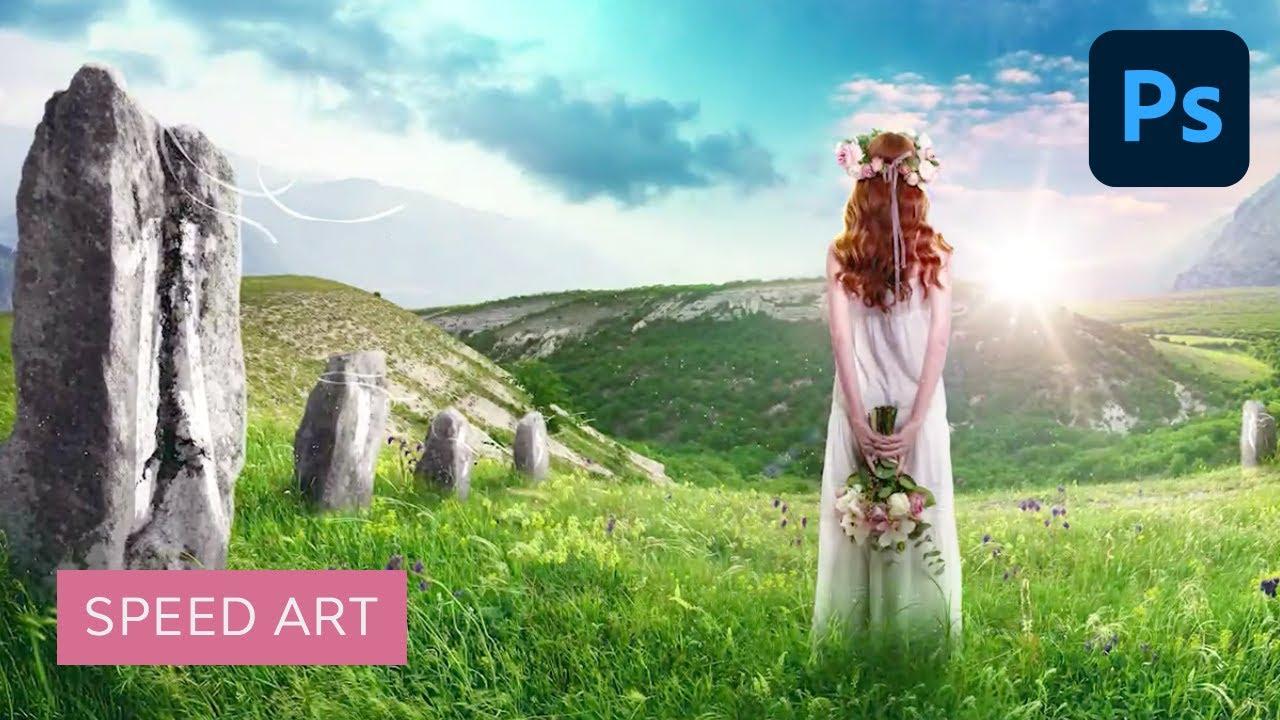 Fantasy Landscape Photoshop Manipulation   Speed Art