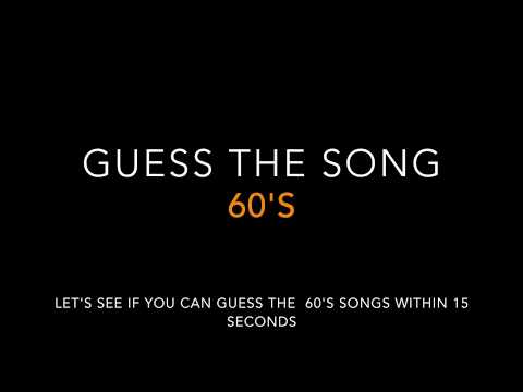 Guess the 60s song