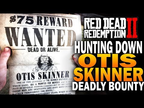 Hunting Down Otis Skinner - Most Deadly Bounty - Red Dead Redemption 2 Bounty Hunting [RDR2]