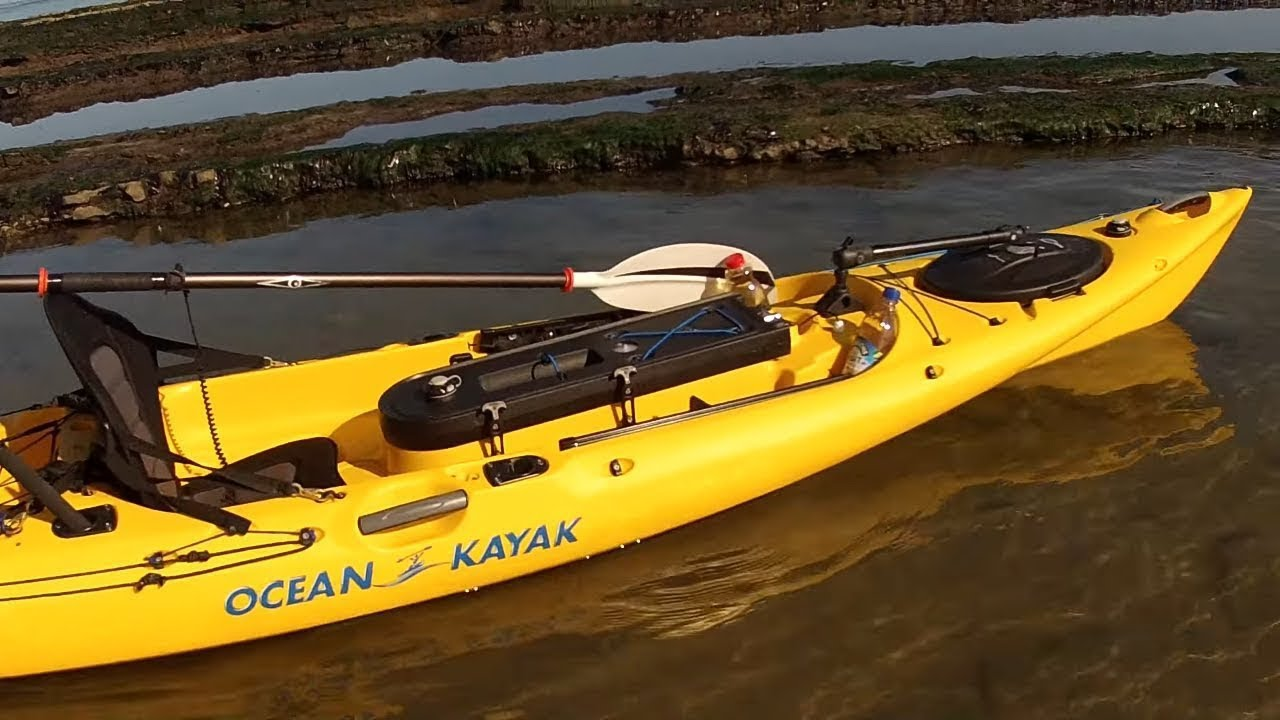 Kayak sea fishing kayak sea fishing at redcar uk youtube for Sea fishing kayak