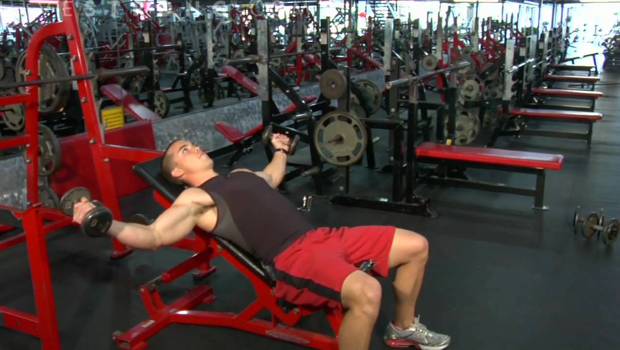 How To Do An Incline Dumbbell Fly Youtube