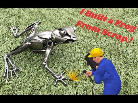 Time Lapse, How to Weld A Frog Sculpture Using Recycled Metal