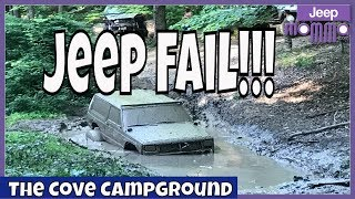 Jeep Cherokee Playing in the Mud Gets Stuck   Jeep Fail