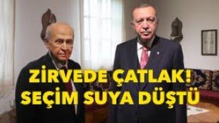SEÇİM SUYA DÜŞTÜ, AKP'DEN BAHÇELİ'YE RET!
