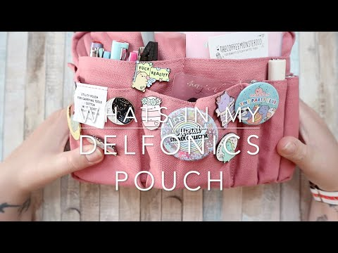 WHAT'S IN MY PLANNER POUCH | DELFONICS UTILITY POUCH MEDIUM