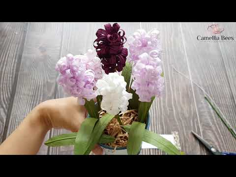 DIY Paper hyacinth flowers - How to make crepe paper Hyacinth EASY