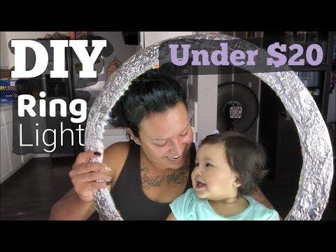 DIY RING LIGHT UNDER $20 2018