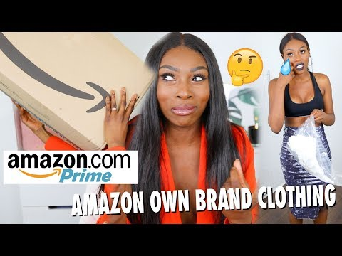 TRYING 拢1000 WORTH OF CLOTHING FROM AMAZONS NEW CLOTHING BRAND, 'FIND' SIS IS CONFUSED DOE?
