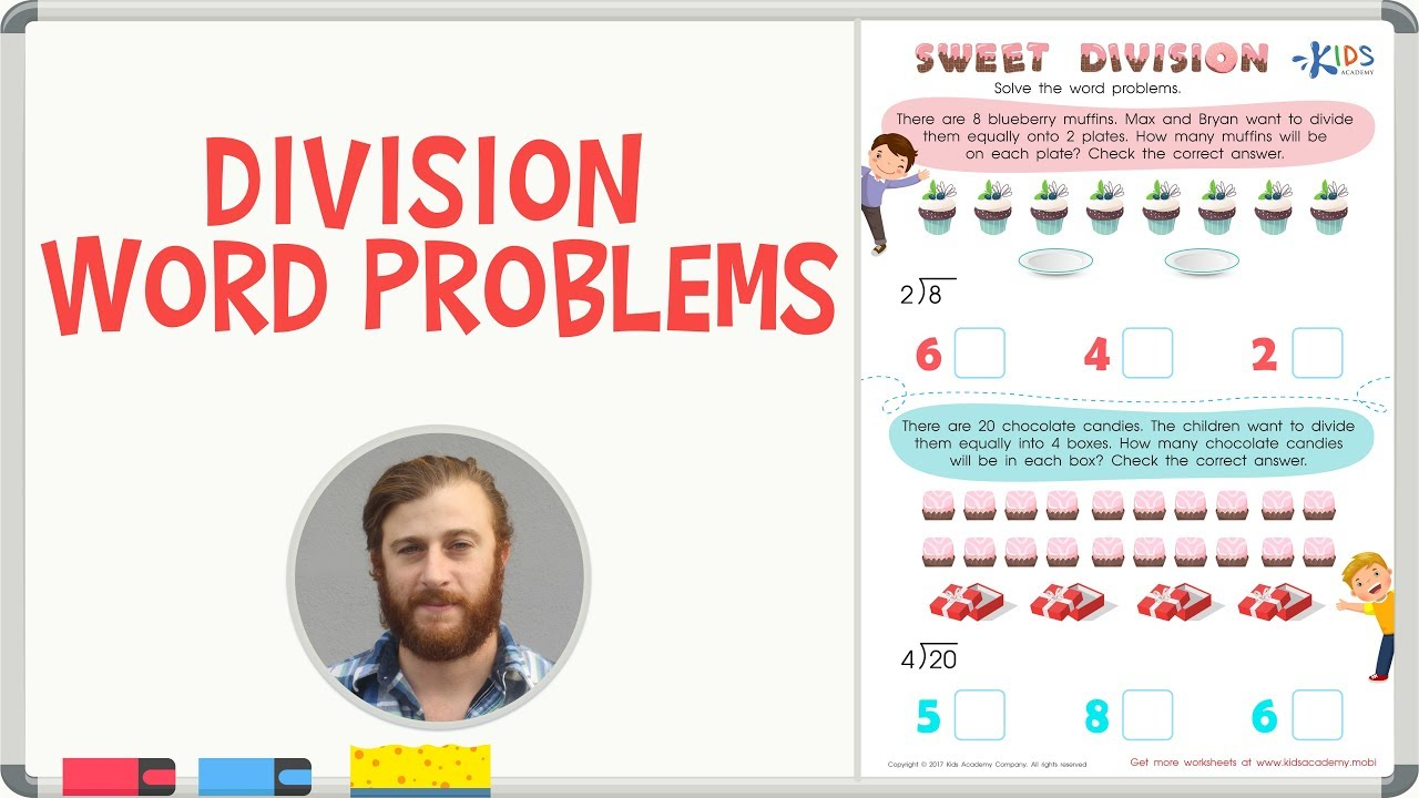 medium resolution of Division Word Problems - 3rd Grade   Math Worksheets with Explanations -  YouTube