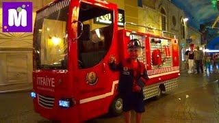 #8 Стамбул едем в Кидзанию играем в пожарного делаем конфеты и мороженое Istanbul Kidzaniya