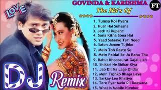 Govinda & Karishma Kapoor Song   Hindi Bollywood Dj Remix Collection   Hindi Romantic Nonstop Remix