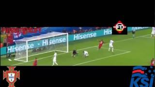 Portugal Vs Islandia 1-1 Euro  Francia 2016 Resumen y Goles