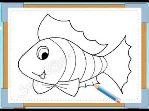 BÉ HỌA SĨ - Thực hành tập vẽ 165: Vẽ cá
