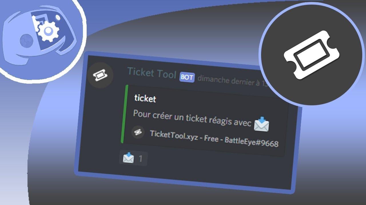 Créer des tickets avec une réaction (Ticket Tool v2) | Discord