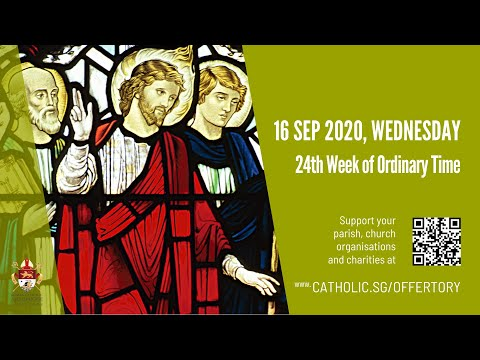 Catholic Weekday Mass Today Online - Wednesday, 24th Week of Ordinary Time 2020