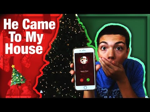 CALLING THE REAL SANTA CLAUS!  *HE ANSWERED*  HE CAME TO MY HOUSE!