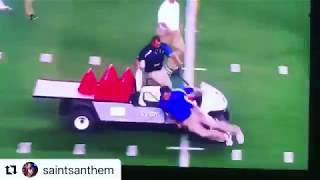 A Car CRASHES people on the football field like GTA