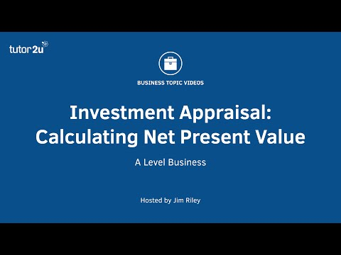 Investment Appraisal - Calculating Net Present Value