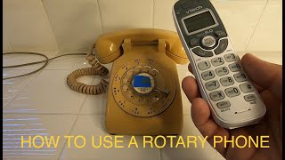 How to use a rotary dial vintage antique phone