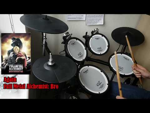 Yui, Again. Fullmetal Alchemist Brotherhood OP 1 Full! Drum Cover.