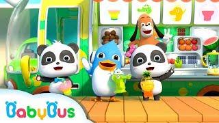 Baby Panda Makes Rainbow Fruit Juice | Ice Cream, Birthday Cake | Kids Song | BabyBus Cartoon
