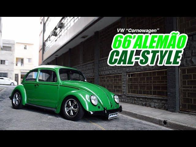 VW Cal-Style | Fusca 66 Alemão com Teto Solar Original de Fábrica