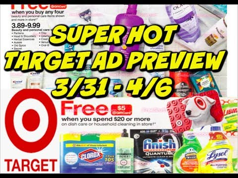 TARGET AD PREVIEW 3/31 – 4/6 | IT'S RAINING GIFT CARDS THIS WEEK!