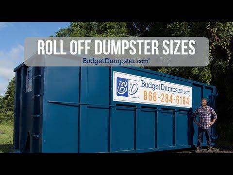 Roll Off Dumpster Sizes   Budget Dumpster