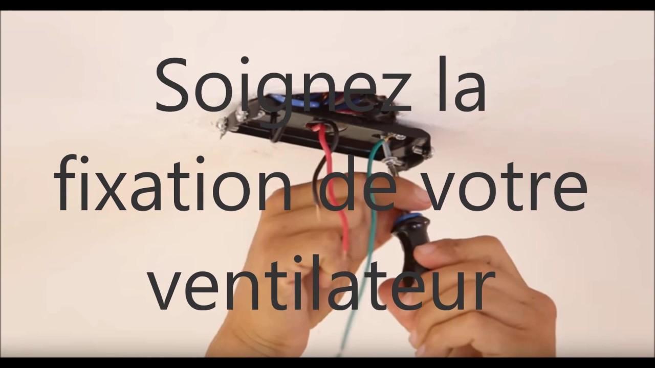 Installation D Un Ventilateur De Plafond Avec Lampe Https Www Ventilateurs Plafond Com Youtube