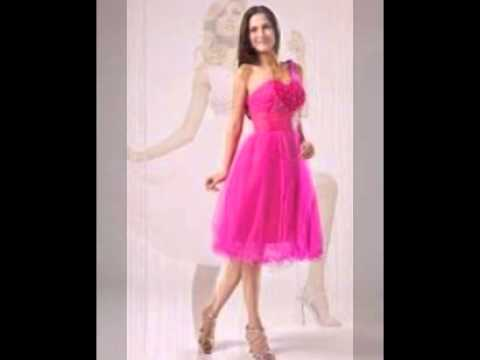 knee-length-pink-dresses,