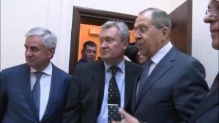С.Лавров в новом здании Посольства России в Абхазии
