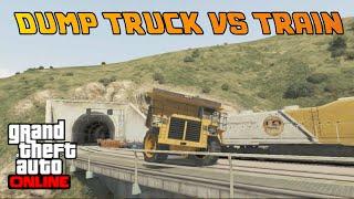 GTA Online- Dump Truck vs Train