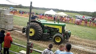 John Deere 830 pulling 33000# + 5 ton Mack 6X6 at Hallockville