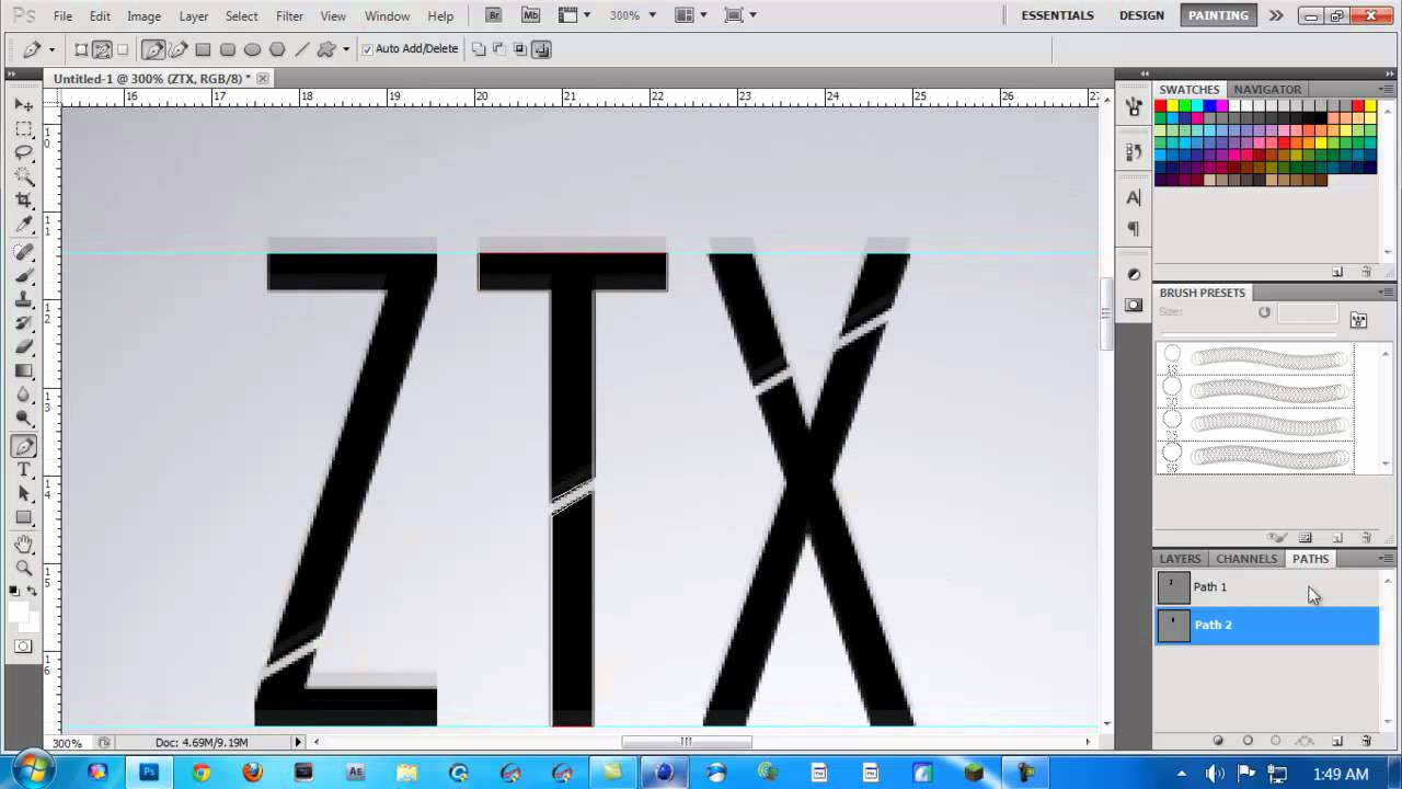 Photoshop tutorial how to split text for multi coloring youtube baditri Images