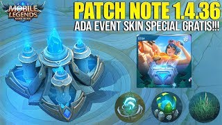 EVENT SKIN SPECIAL GRATIS! LING,FANNY NERF, WANWAN BUFF - PATCH NOTE 1.4.36 MOBILE LEGENDS
