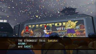 Capcom vs. SNK 2: Mark of the Millennium 2001 - Sakura/Akuma/Sagat - Arcade Mode Playthrough