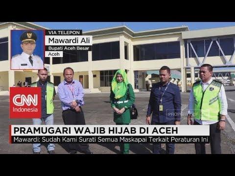 Ditanya Kepastian Hukum Pramugari Wajib Berhijab, Bupati Aceh Besar Mawardi Ali Enggan Menjawab