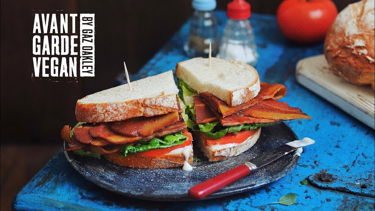 VEGAN STREAKY BACON MUST SEE avantgardevegan by Gaz Oakley
