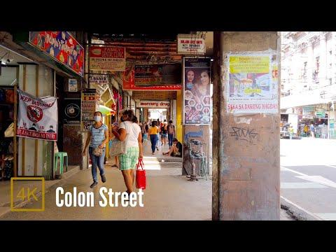 Colon Street, Cebu, Philippines【4K】