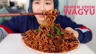 Korean RamDon (Ramyun + Udon) w/ Wagyu Steak Recipe ft. FoodWithSoy