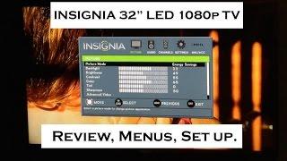 insignia 32 1080p 60hz led hd tv review of menus settings