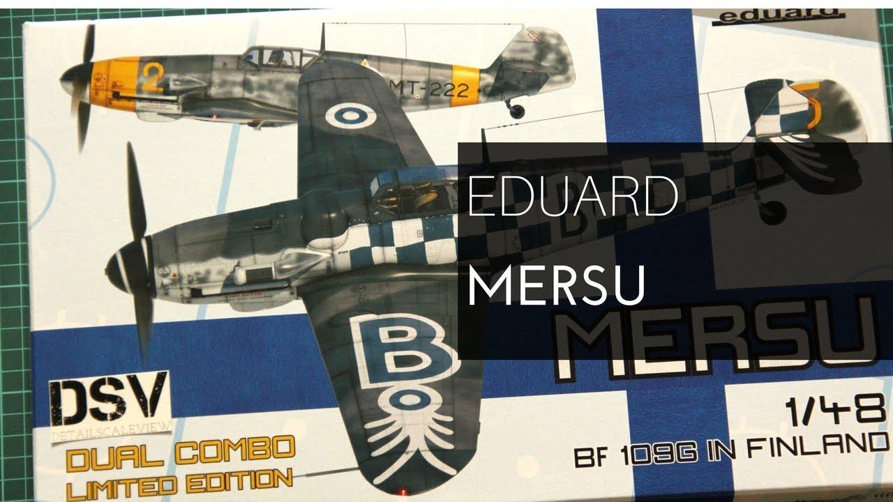 Eduard Plastic Kits 11114-1:48 Mersu //Bf 109G in Finland Dual Combo Limited Ed