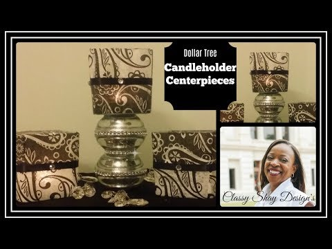 DIY: Bling Candle Holder Centerpiece| Dollar Tree| Affordable