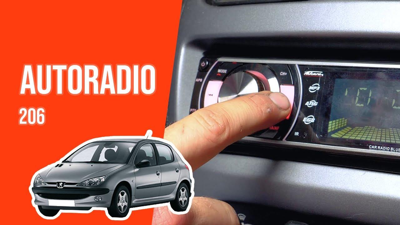 Clé Extraction Autoradio Compatible Peugeot 206