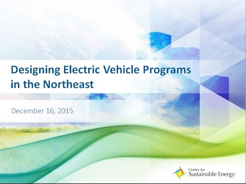 Designing Electric Vehicle Programs in the Northeast