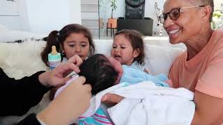 ELLE AND ALAIA MEET THEIR BABY BROTHER FOR THE FIRST TIME ELLE WAS SHOCKED! PART 1